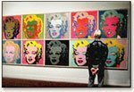 Marylin Monroe Portraits by Warhol in Gallery
